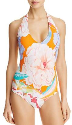Echo Floral Low Back One Piece Swimsuit