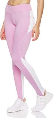 Mint Lilac Women's Reflective Yoga Leggings Athletic Workout Leggings with Back Pocket Pink
