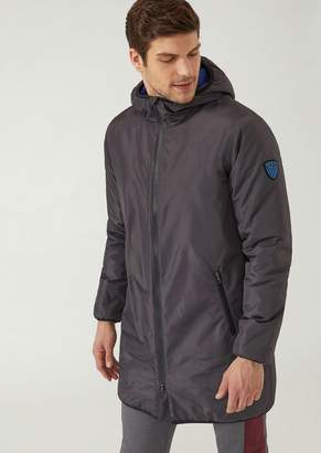 Emporio Armani Ea7 Padded Hooded Jacket With Taped Seams