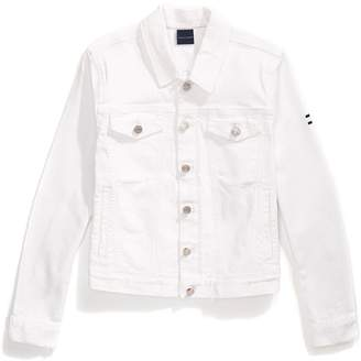 Tommy Hilfiger Frayed White Denim Jacket