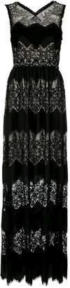 À La Garçonne fringe lace gown