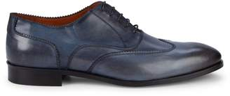 Massimo Matteo Bal Wing-Tip Leather Oxfords