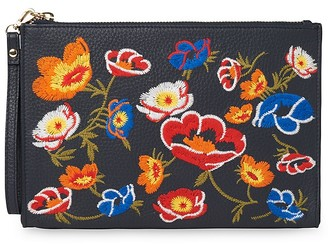 Whistles Taylor Floral Leather Wristlet $120 thestylecure.com