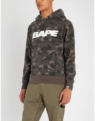 30b3e57c A Bathing Ape Camouflage-print cotton-jersey hoody