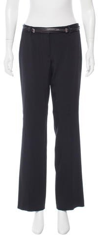 Prada Belted Wide-Leg Pants