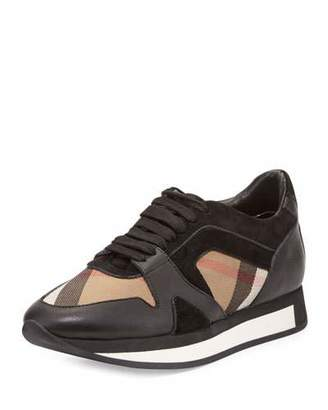 Burberry The Field Check Sneaker, Black $575 thestylecure.com