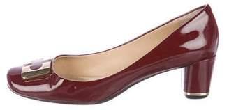 Diane von Furstenberg Patent Leather Round-Toe Pumps