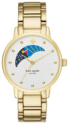 Kate Spade Gramercy Moon Phase Dial Goldtone Bracelet Watch