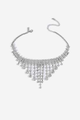 Topshop Cupchain Drop Choker Necklace