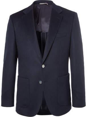HUGO BOSS Navy Janson Slim-Fit Cashmere Blazer - Navy