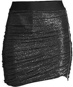 Faith Connexion Women's Ruched Glitter Skirt