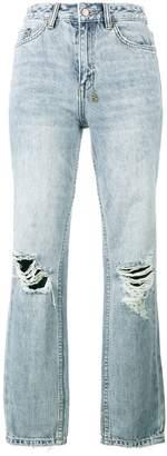 Ksubi The Slim Pin high waist ripped jeans