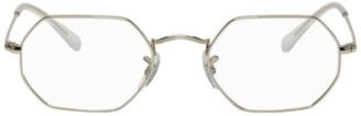 Ray-Ban Silver Octagonal Glasses