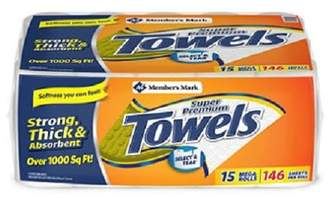 Member's Mark Super Premium 2-Ply Paper Towels (15 Rolls