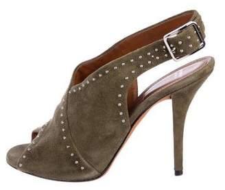 Givenchy Suede Embellished Sandals