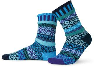 Solmate Socks Mismatched Crew Socks, Made in USA, Recycled Yarns Md