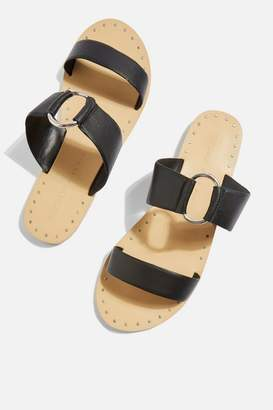Topshop **Wide fit Hooray Two Strap Sandals