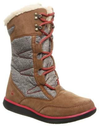BearPaw Aretha Suede Genuine Sheepskin Footbed Boot