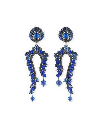 Ranjana Khan Lapis Clip-On Statement Earrings