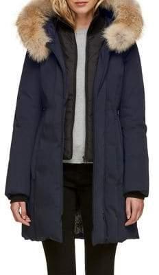 Soia & Kyo Salma Down Jacket with Coyote Fur Trim