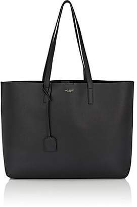 Saint Laurent Women's East-West Shopper Leather Tote Bag - Black