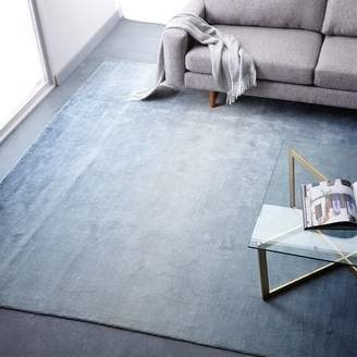 west elm Ombre Shine Wool Rug - Blue Lagoon