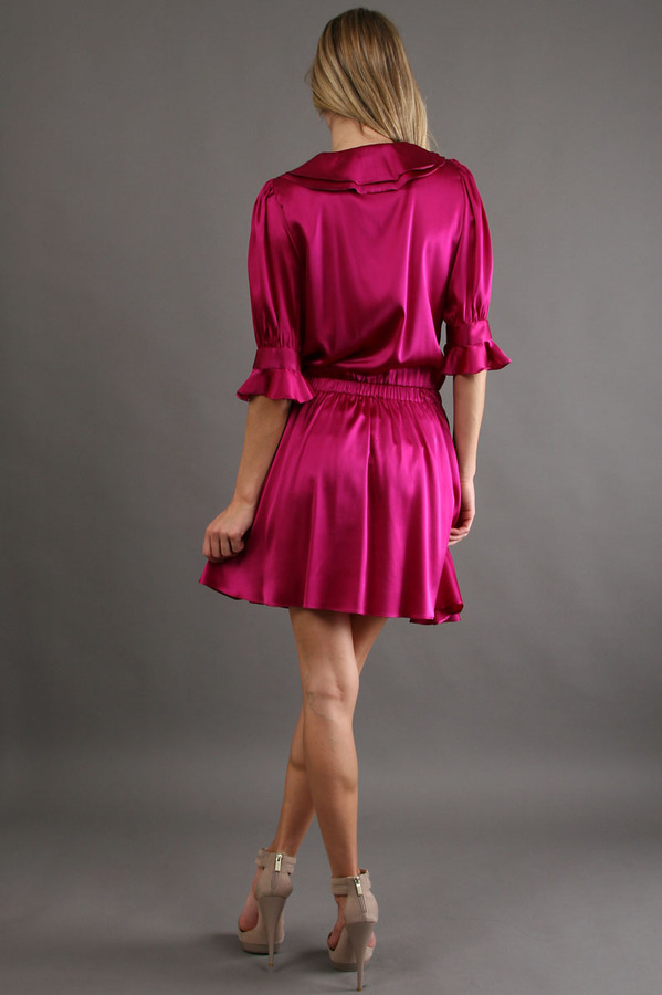Karen Zambos Ryker Dress in Fuschia