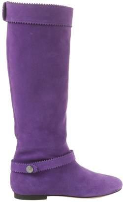 Blumarine Purple Suede Boots