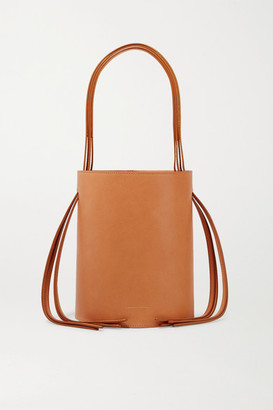 Mansur Gavriel Fringe Leather Bucket Bag - Tan