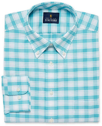 ff5ecae6 STAFFORD Stafford Travel Wrinkle-Free Stretch Oxford Mens Button Down  Collar Long Sleeve Wrinkle Free
