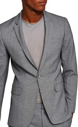 Topman Ultra Skinny Fit Houndstooth Suit Jacket