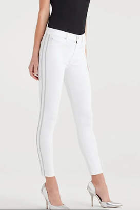 7 For All Mankind High Waist Winter White Fashion Skinny Jean