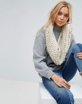 French Connection Chunky Knitted Winter Infinity scarf
