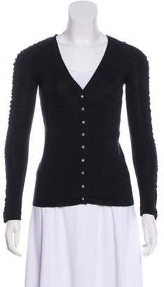 Balenciaga Wool Ruched Cardigan