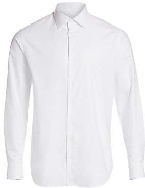 Giorgio Armani Men's Tonal Diamond Cotton Shirt