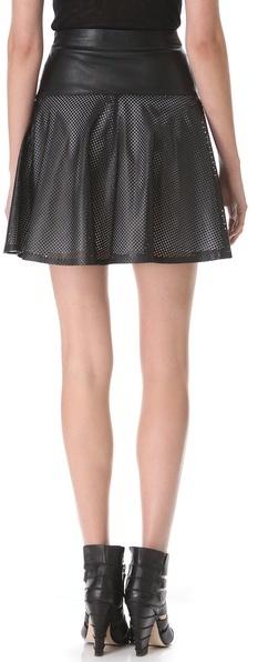 Ohne Titel Leather Mesh Skirt