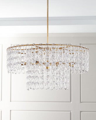 John-Richard Collection John Richard Collection Crystal Chain 13-Light Pendant