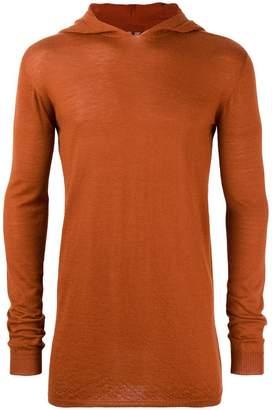 Rick Owens fitted hoodie