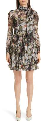 ADAM by Adam Lippes Floral Print Silk Chiffon Dress