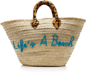 Poolside Life's A Beach Le Shortie Straw Tote