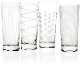 Mikasa Cheers Patterned Highball Glasses, Set of 4