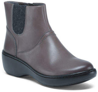 Wide Ultimate Comfort Leather Booties