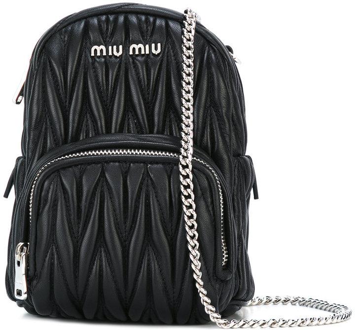 Miu MiuMiu Miu mini quilted crossbody bag