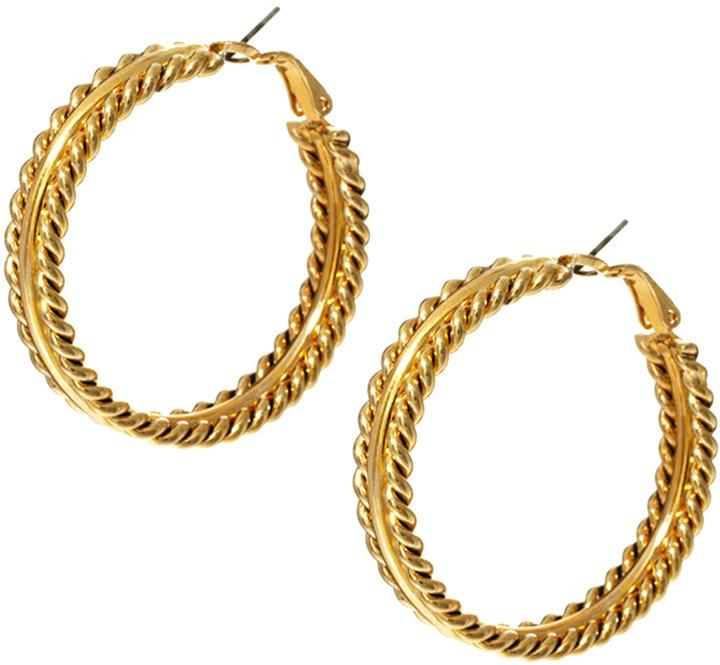 Susan Caplan Vintage Exclusive For ASOS Vintage 90s Braided Hoop Earrings