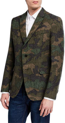 Valentino Men's Camo Wool-Blend Blazer