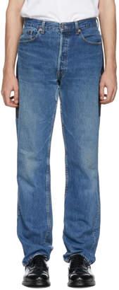 B Sides Indigo Patchwork Reverse Jeans