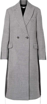 Stella McCartney Paneled Wool-tweed And Twill Coat - Gray
