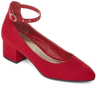 Laundry by Shelli Segal CL BY LAUNDRY CL by Laundry Womens Hadden Pumps Strap Round Toe Block Heel