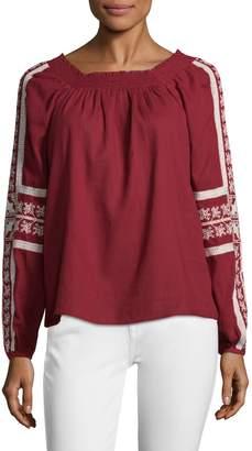 Love Sam Women's Cotton Smocked Blouse