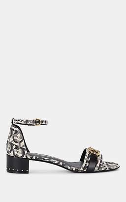 Salvatore Ferragamo Women's Bit-Embellished Ankle-Strap Sandals